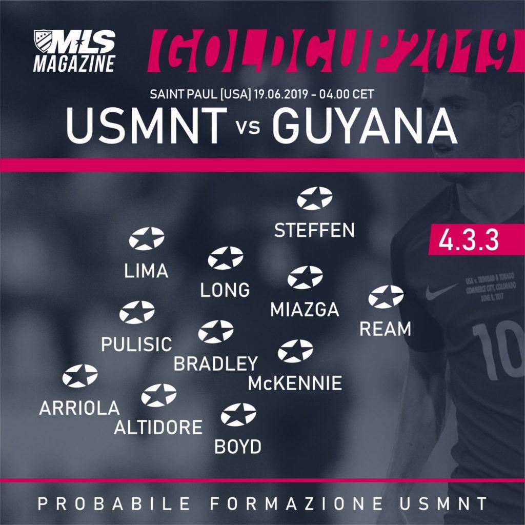 USMNT vs GUYANA - GOLDCUP 2019 | MLS MAGAZINE ITALIA