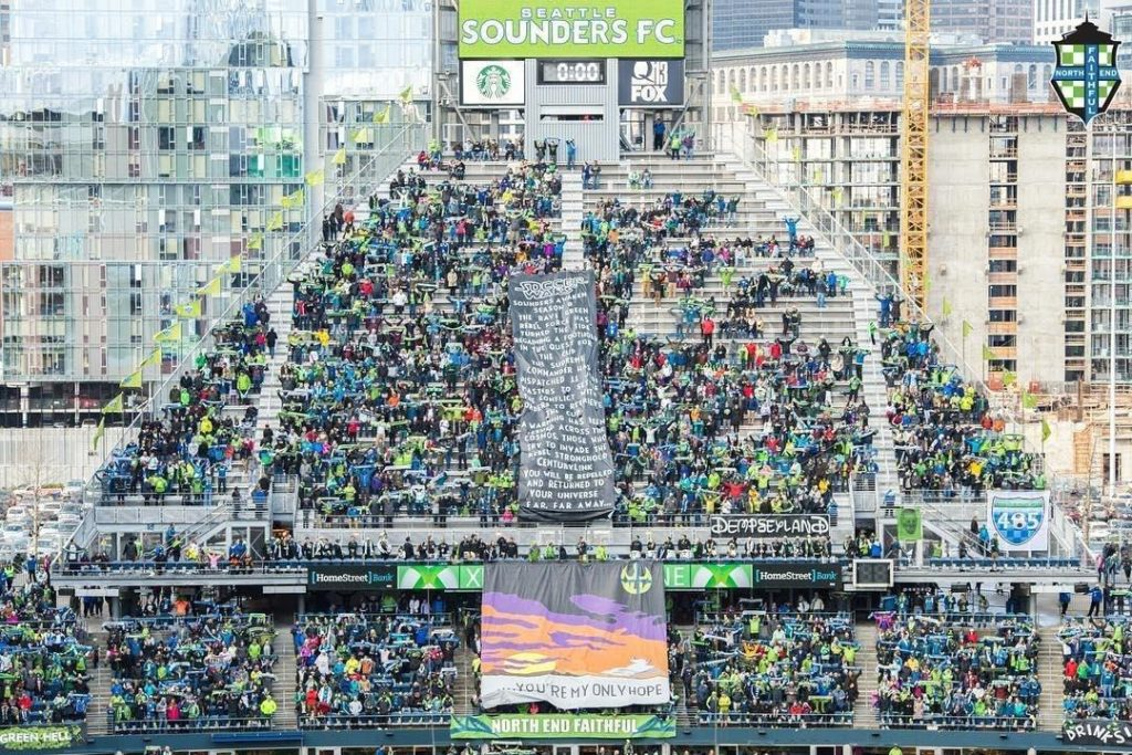 North End Seattle Sounders MLS Fan Cave